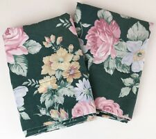 Westpoint Stevens King Pillowcases Green Floral Pink Cottage Roses 21 X 32