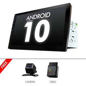 """OBD+CAM+ Smart 10.1"""" Android 10 Car Radio Bluetooth 2 Din Stereo USB SD WiFi GPS"""