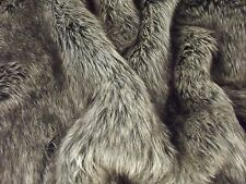Super Luxury Faux Fur Fabric Material - ARCTIC GREY WOLF