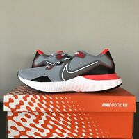Men's Nike Renew Run Running Shoes Sneakers Gray White Red CK6357-401 New in Box