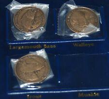 New listing Nafc North American Fishing Club 3 Coins Bass, Walleye, Trout Plus Holder