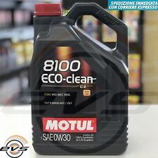 5 Litri Motul 8100 Eco-Clean 0W30 Olio Motore Sintetico C2 FIAT 9.55535-GS1/DS1