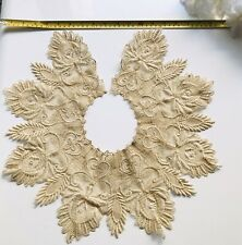 Antique Victorian Lace Collar Honiton Brussels Net Guipure Honey