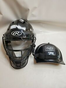 Rawlings Youth Size 6.5 to 7 baseball catchers helmet black.