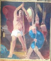 Albert Zahlbruckner 1895 -1962 Oil Painting Mythologisches Motif Signed Antique