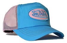 MÜTZE BASECAP KAPPE HUT SATIN ROSA//BROWN VON van DUTCH MESH TRUCKER BASE CAP