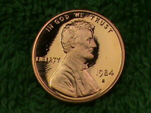 UNITED  STATES   1 Cent   1984  S   PROOF  .