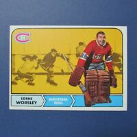 LORNE GUMP WORSLEY 1968-69 TOPPS # 56  Montreal Canadiens  1969  68 69  NR-MT/MT
