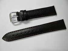 Apollo Dark Brown Grain Watch Strap with Polished  Buckle 18mm No.7008218
