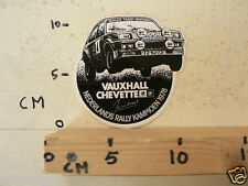 STICKER,DECAL VAUXHALL CHEVETTE NEDERLANDS RALLY KAMPIOEN 1978 JAN VD MAREL