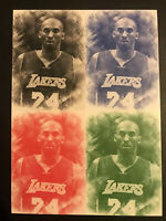 Kobe Bryant ACEO Pencil Sketch Uncut Sheet Great For Framing Rare 5x7""