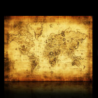 Vintage Retro World Map Antique Paper Poster Wall Chart Home Decoration 72*51CM