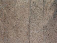 "Highland Court ""Embroidered Fantasy"" 100% Silk, fabric remnant, color aquadisiac"