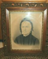 "ANTIQUE  WOOD ORNATE PICTURE LARGE ART PAINTING FRAME 24"" x 28""  Victorian"