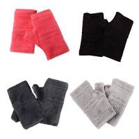 Winter Autumn Gloves Ladies Girls Soft Thick Warm Keyboard Leak Finger Gloves