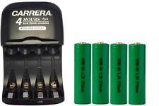 AA / AAA NiMH Smart Charger with USB Plug + 4-Pack AA NiMH 2700 mAh Batteries