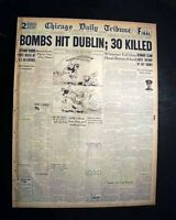 THE NORTH STRAND BOMBING Dublin Ireland German Air Attack 1941 WWII Newspaper