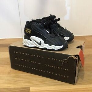Nike Baby Props Uptempo Black & White Runners. Size 2c/1.5AU/17EUR with Box #413