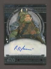 Paul Springer Signed Topps Star Wars AUTO Gamorrean Guard