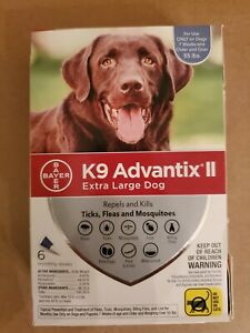 K9 Advantix II for EXTRA LARGE DOG over 55lbs 6 Pack DAMAGED BOX