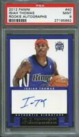 2012-13 panini rookie autographs #40 ISAIAH THOMAS boston celtics rookie PSA 9