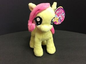 "My Little Pony 6-1/2"" Fluttershy Pegasus Stuffed Plush Toy Aurora World MLP 2013"