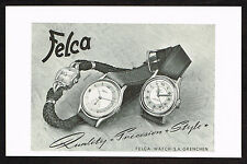 1940's Vintage 1948 Felca Watch Co. Watches - Paper Print AD