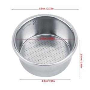 Filtro de café de acero inoxidable, filtro de café reutilizable de 51 mm,