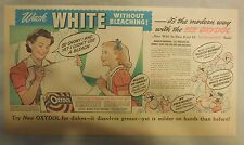 Oxydol Soap Ad: Wash White Without Bleaching! from 1940's