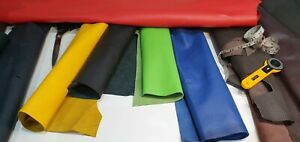 Many Colors HIGH QUALITY 100% GENUINE LEATHER squares * off cuts * patch repairs