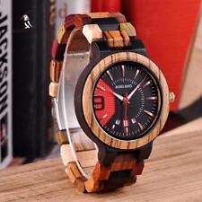 BOBO BIRD Wooden Watch Colorful Luxury Men's Fashion Wood Stylish Quartz Gift