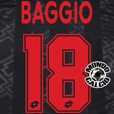 BAGGIO PERSONALIZZAZIONE MILAN THIRD NOME E NUMERO KIT SET NAME 1996-97