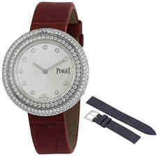 Piaget Possession 18kt White Gold Silver Diamond Dial Ladies Watch G0A43095