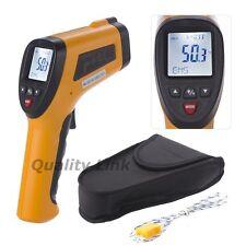 30:1 Laser IR Gun Infrared Thermometer Pyrometer 0.1~1EM 1050°C 1922°F K-Type