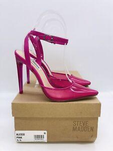 Steve Madden Women's Alessi Vinyl Two-Piece Pumps Pink US 5.5M