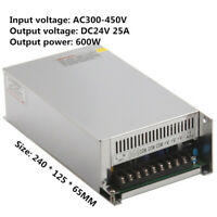 Input AC380V Output DC24V 25A 600W Switching Power Supply SV-600-24