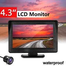 4.3'' Wireless Car Rear View LCD Monitor Night Vision Reverse Backup Camera Kit