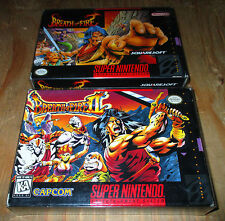 Breath of Fire I & II * Super Nintendo SNES * COMPLETE IN BOX * CIB BOXED 1 2 *
