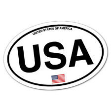 USA America Country Code Sticker Flag Bumper Water Proof Vinyl #6939EN