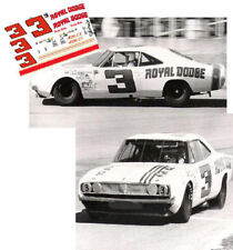 CD_722 #3 Buddy Baker   Ray Fox 1968 Dodge Charger  1:64 scale decals