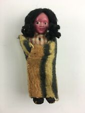 "Vintage Skookum Papoose Native American Chilld Indian Doll 5"" Tall"