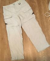 Columbia GRT Convertible Packable Hiking Cargo Shorts Pants khaki medium