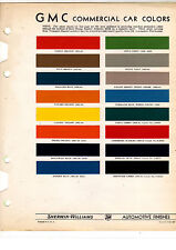 1935 1936 1937 1938 1939 1940 1941 1942 1946-1952 GMC TRUCKS PAINT CHIPS SW 16PC