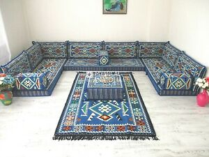 U Shaped Arabic Floor Sofa Set Arabic Floor Seating Arabic Majlis Sofa Set Jalsa