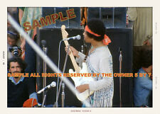 JIMI HENDRIX PHOTO  1969  IN CONCERT SNAPSHOT STYLE 5x7 COLOR