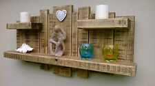 Sculpture Wall Art Shelf Shelves Rustic Light Oak 3 Shelves 3 Feet X 18 Inches