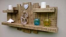 Sculpture murale étagère étagères rustique en chêne clair 3 étagères 3 pieds x 18 pouces