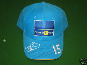 SIGNED JENSON BUTTON F1 BASEBALL CAP NEW WORLD CHAMPION