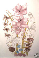 Floral Fashion by Moran; Rare Signed & #'d
