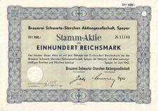 Brauerei Schwartz-Storchen AG 1942 Speyer